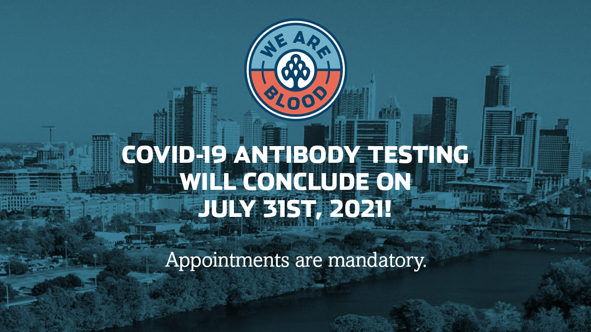 We Are Blood COVID-19 Antibody Testing