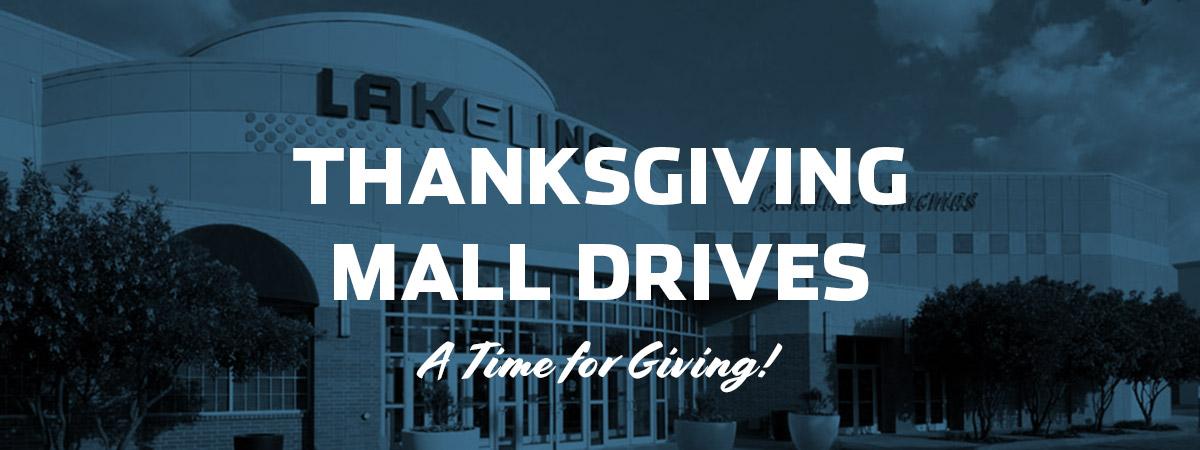 Thanksgiving Week Holiday Mall Drives
