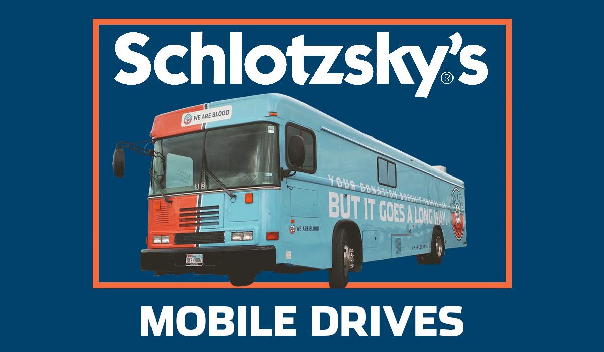 Schlotzsky's Blood Drives and a Free Cinnabon Minibon!